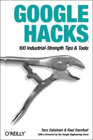 Cover of Google Hacks, a book about using Google